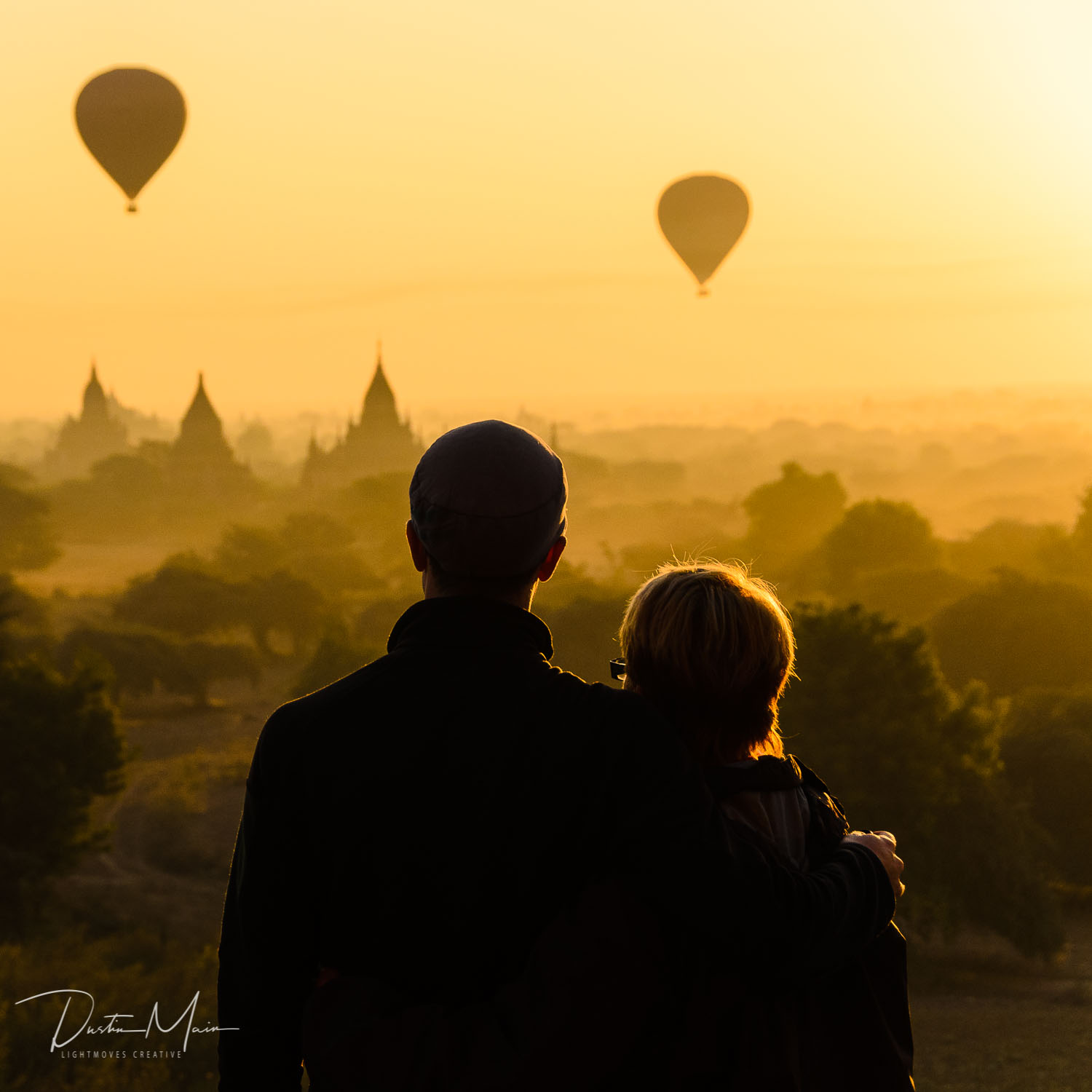 "Sunrise in Bagan. As far as I know, this is the picture they show in the dictionary under ""magical."""