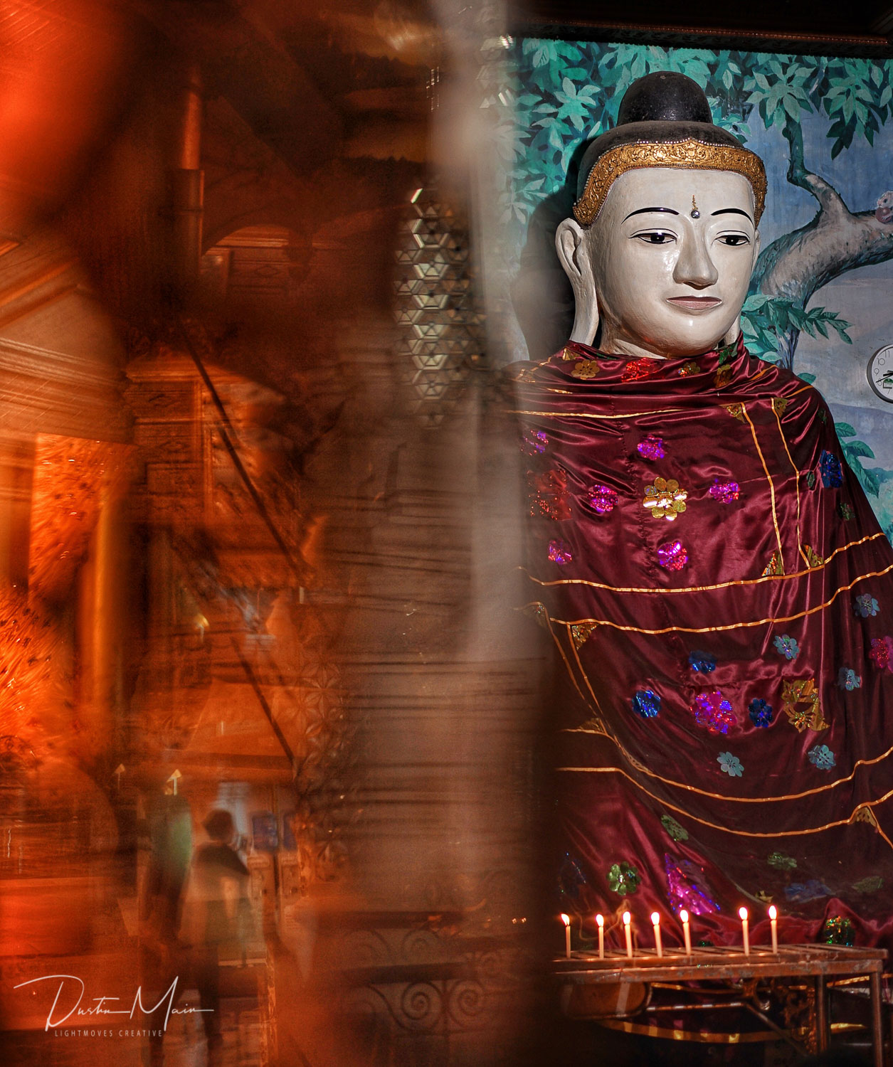 I'm a sucker to a reason to reflect, and Shwedagon always delivers an opportunity to look both outward and in.  © Dustin Main 2017