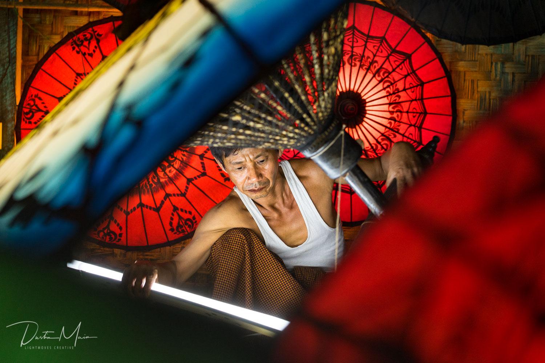 U Aung Soe - Umbrella Man