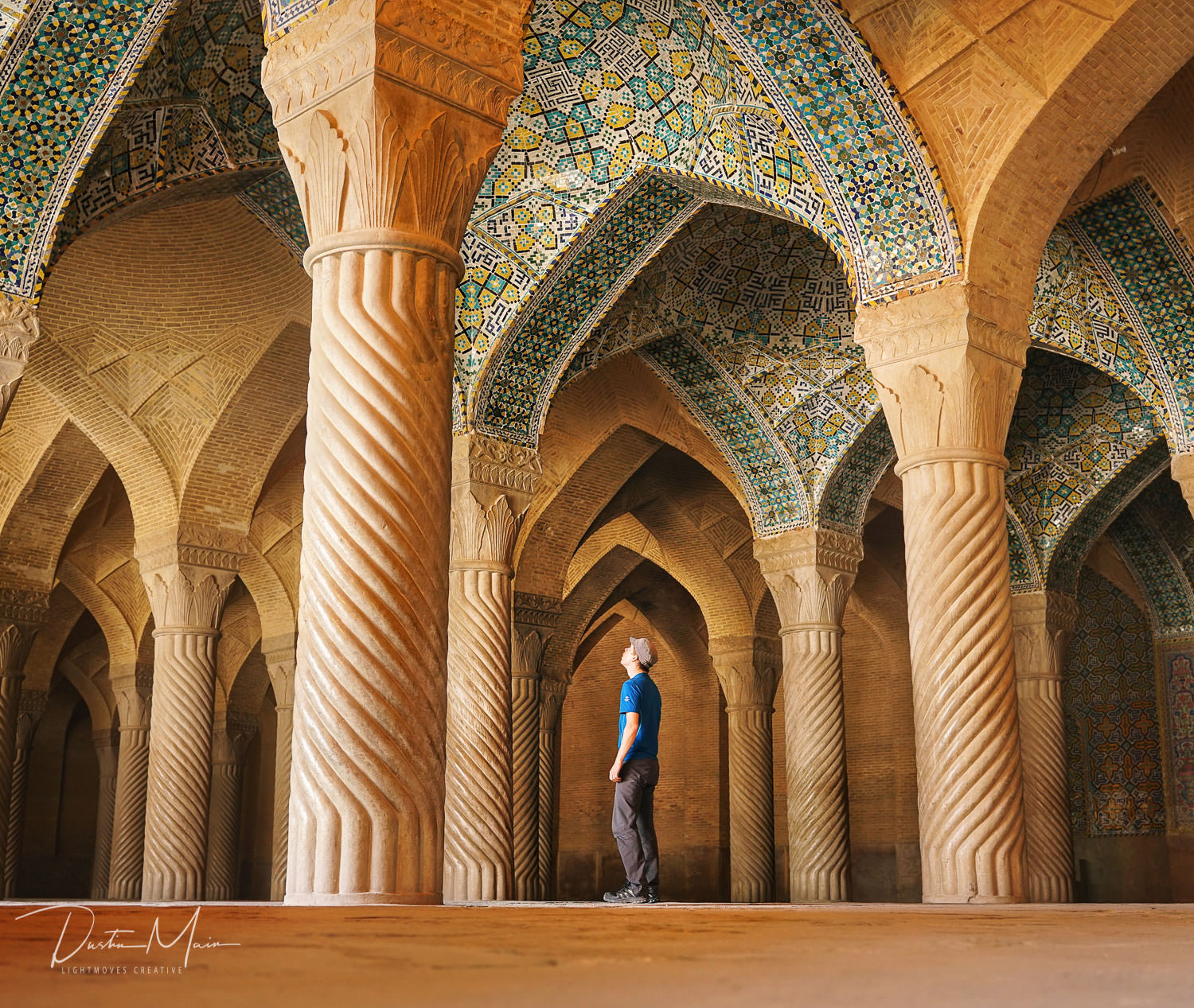 Self Portrait @ Vakil Mosque - Shiraz, Iran  © Dustin Main 2017