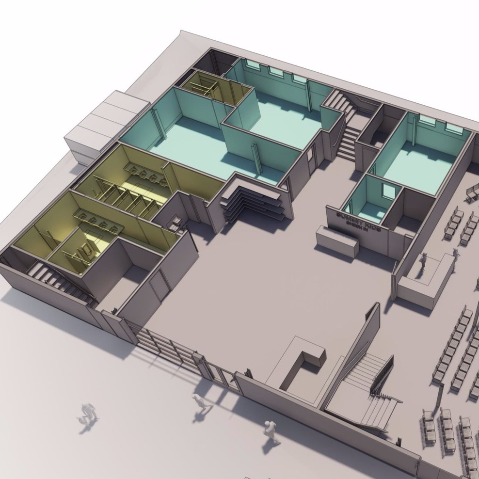 Summit Kids - Triple our total Summit Kids' space to 4300 sq. ft.Add dedicated Kids' Lobby & secure Check-InConstruct a total of 7 classrooms + 1 nursing mother's lounge