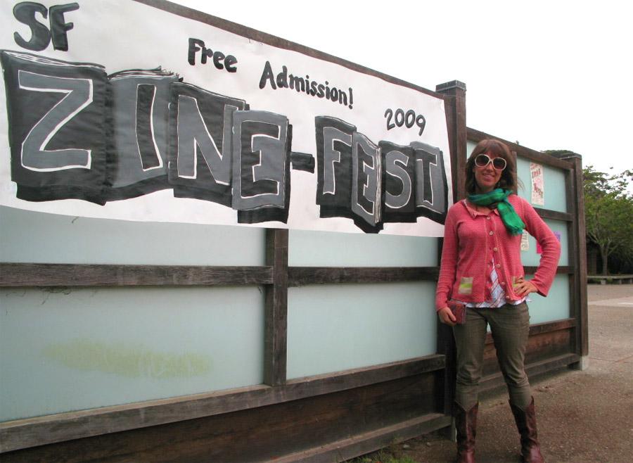 Artist Liz Maher at SF Zine-Fest 2009