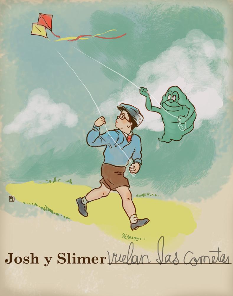 Josh y Slimer by Rigel Stuhmiller