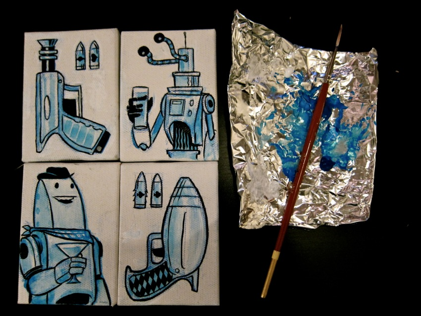 More tiny paintings...