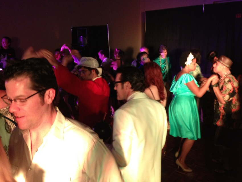 Dancing at Tiki Oasis