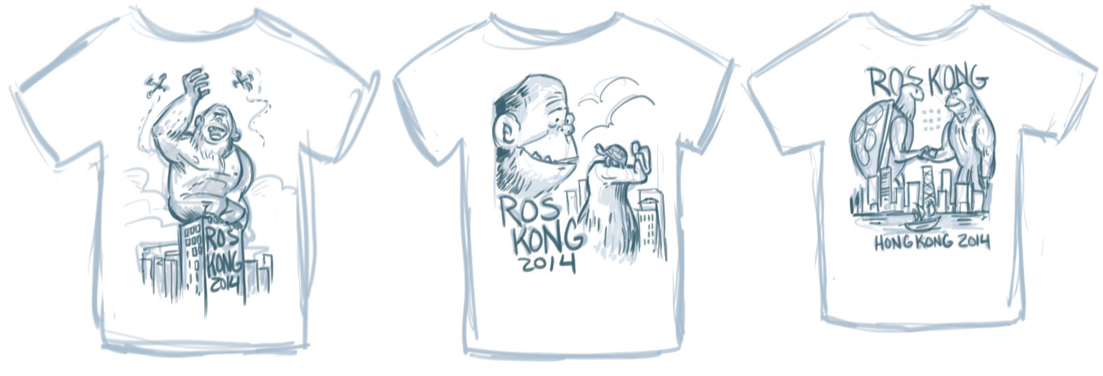 Initial Concepts for ROS Kong shirt