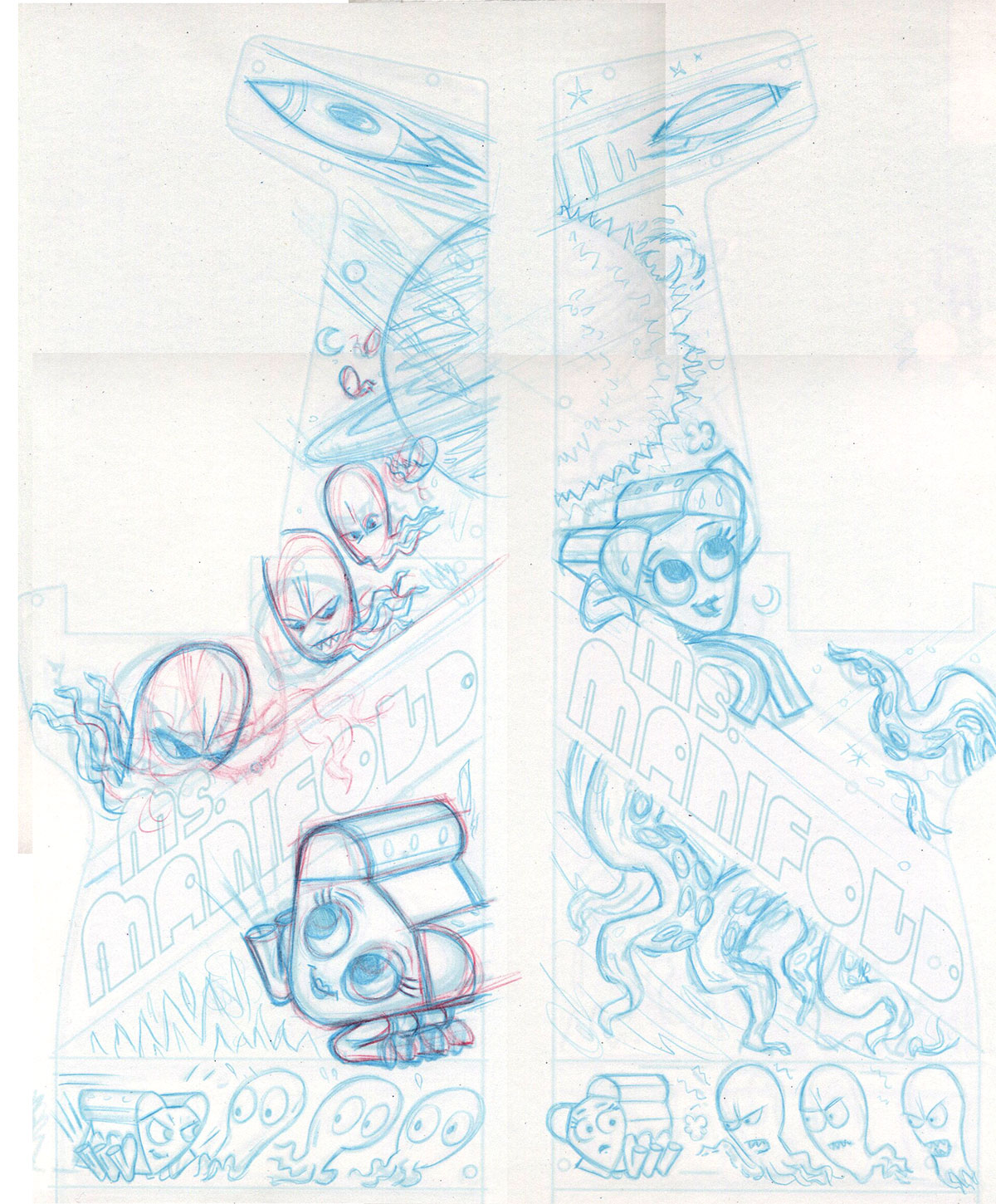 Tighter pencil layouts