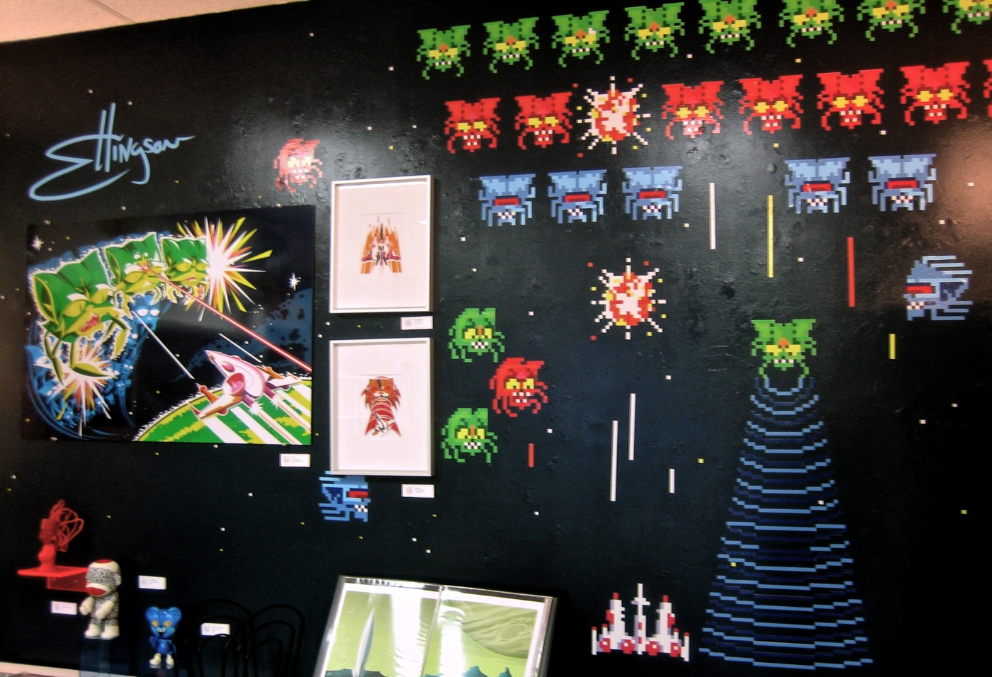 My 2006 art installation at Super7 Store in Japantown, SF