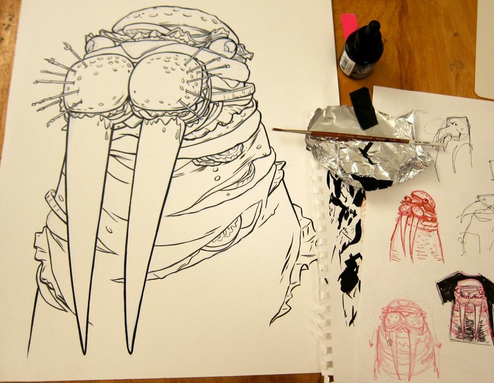 Pen/Ink on bristol board