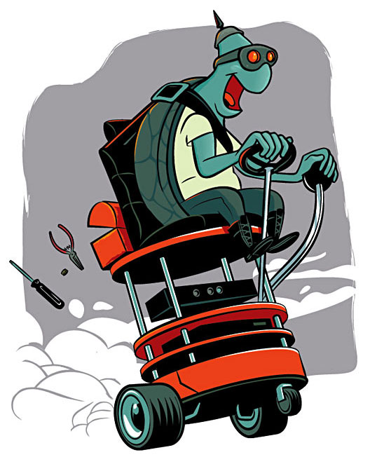 Artwork for the  Turtlebot , which runs on ROS