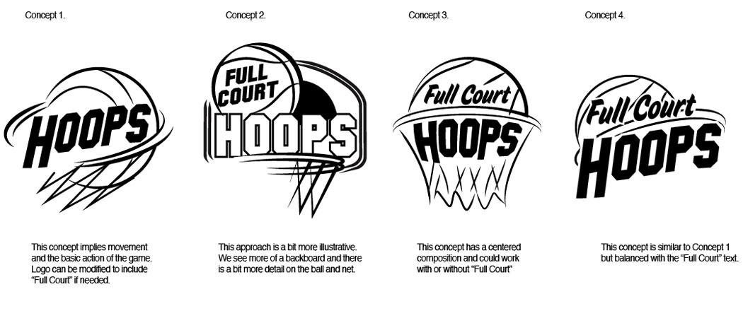 Hoops Game Logo