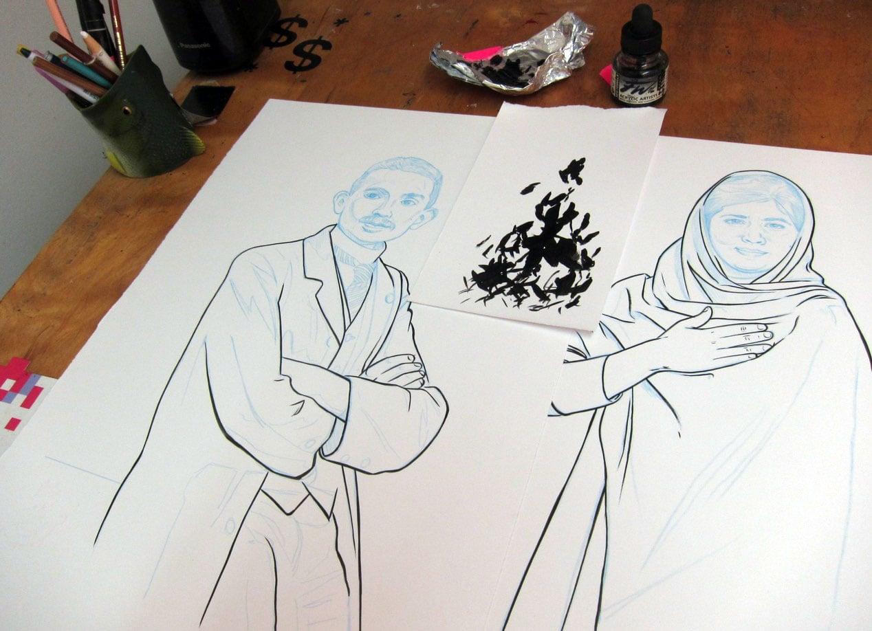 Work in progress, Gandhi and Malala