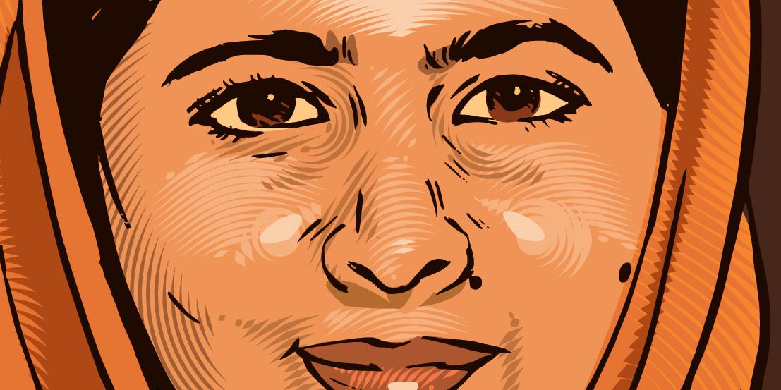 Malala, detail.