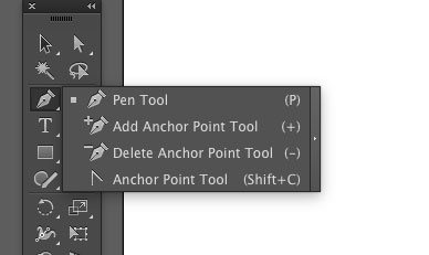 The Pen Tool Fly-out menu