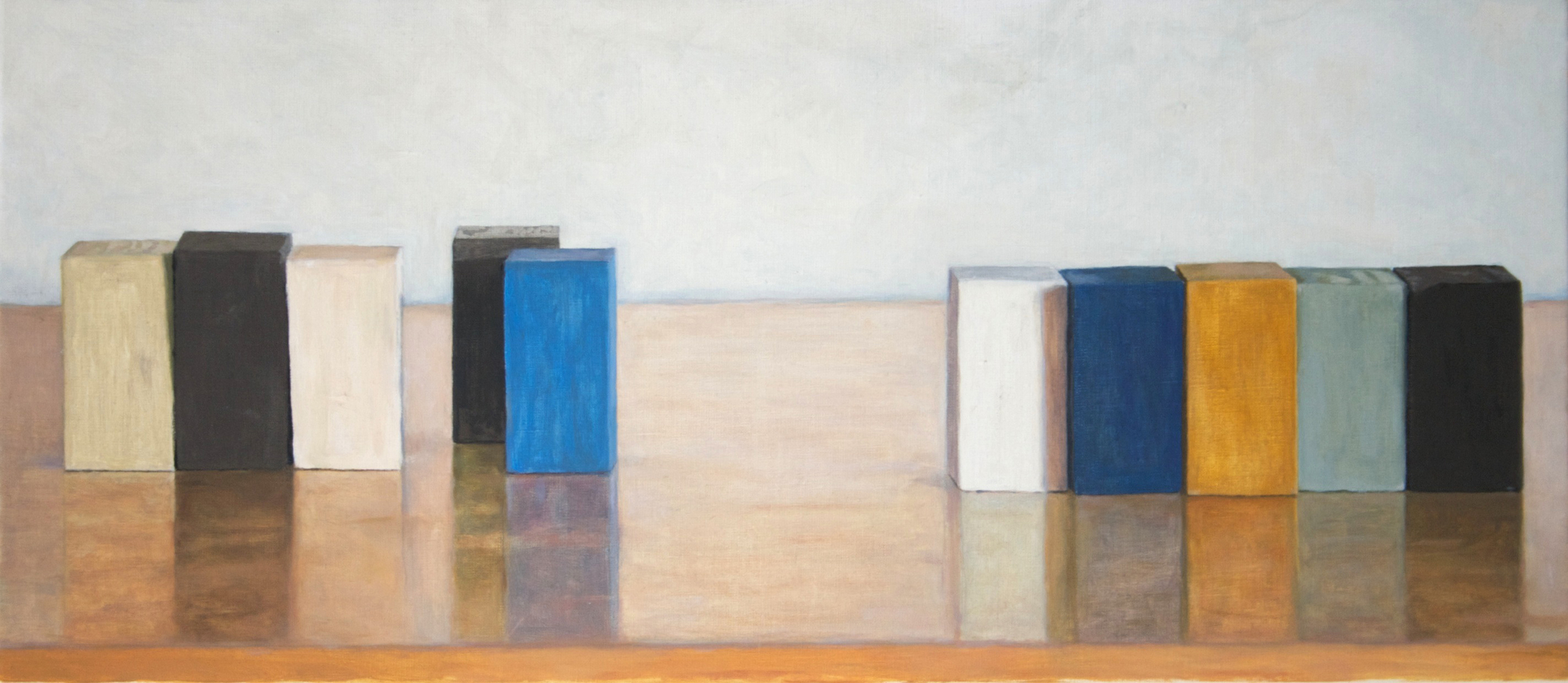 Middle Distance, 2011 Oil on Linen, 14 x 32 inches