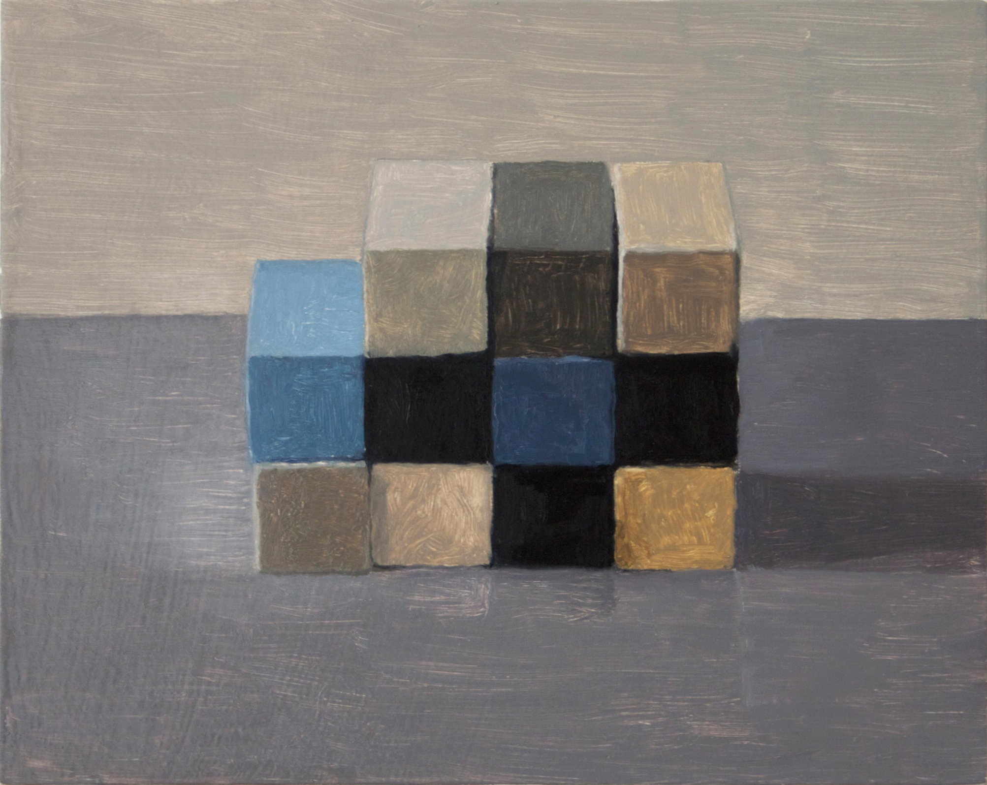 Study,  Checkerboard II,  2013 Oil on wood, 20 x 25 cm SOLD