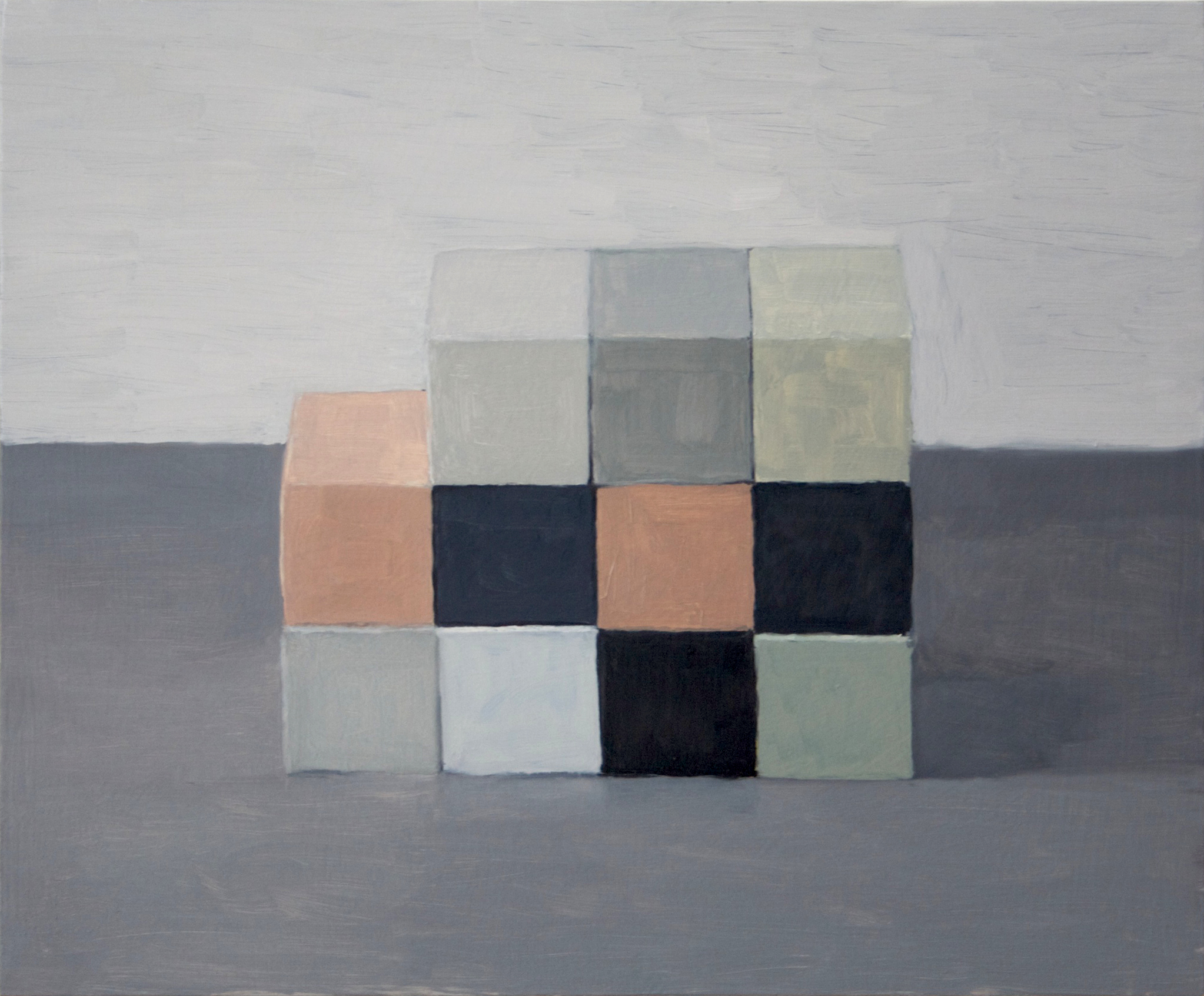 Checkerboard I , 2013 Oil on wood, 36 x 45 cm. SOLD