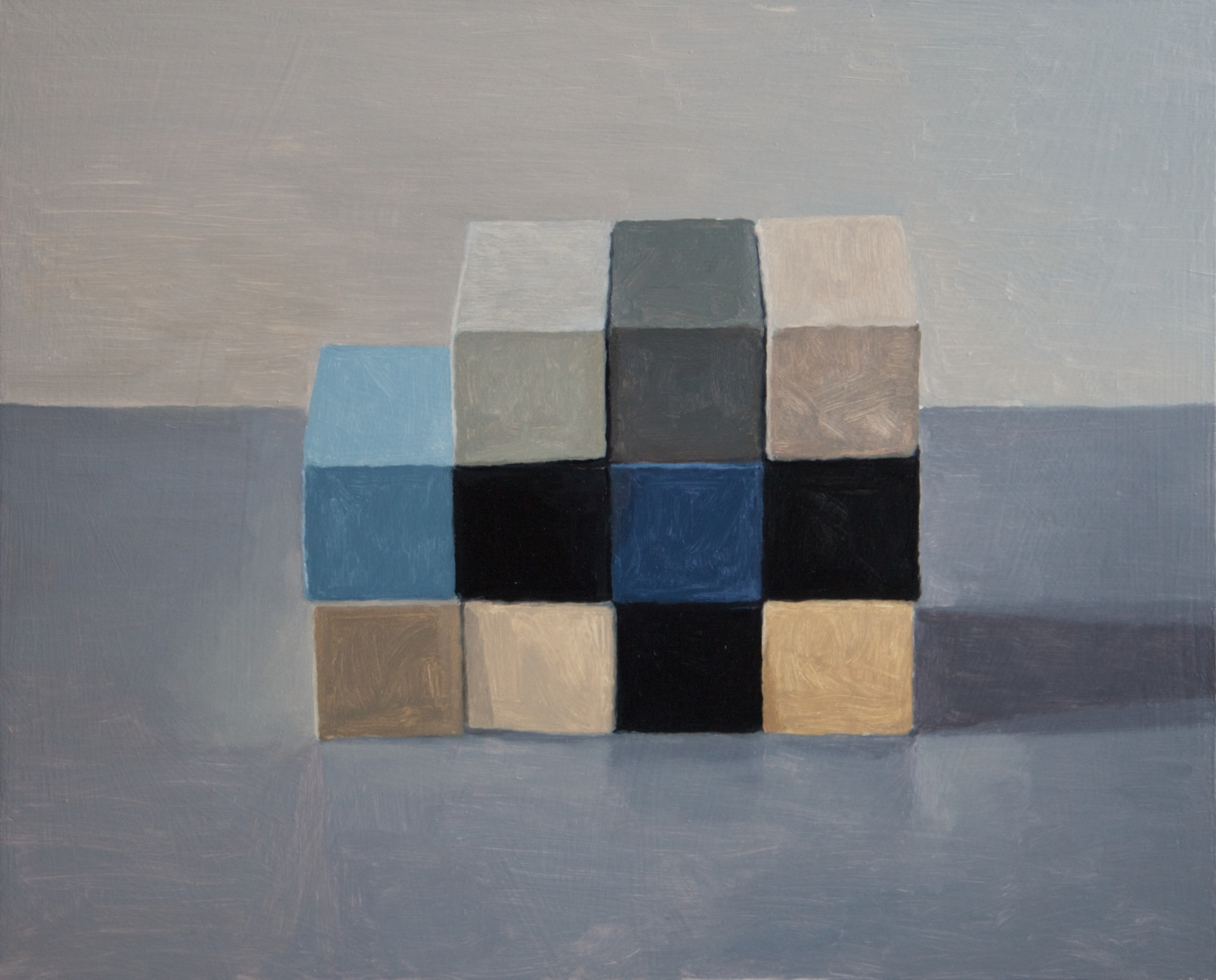 Checkerboard II, 2013 Oil on wood, 40 x 50 cm