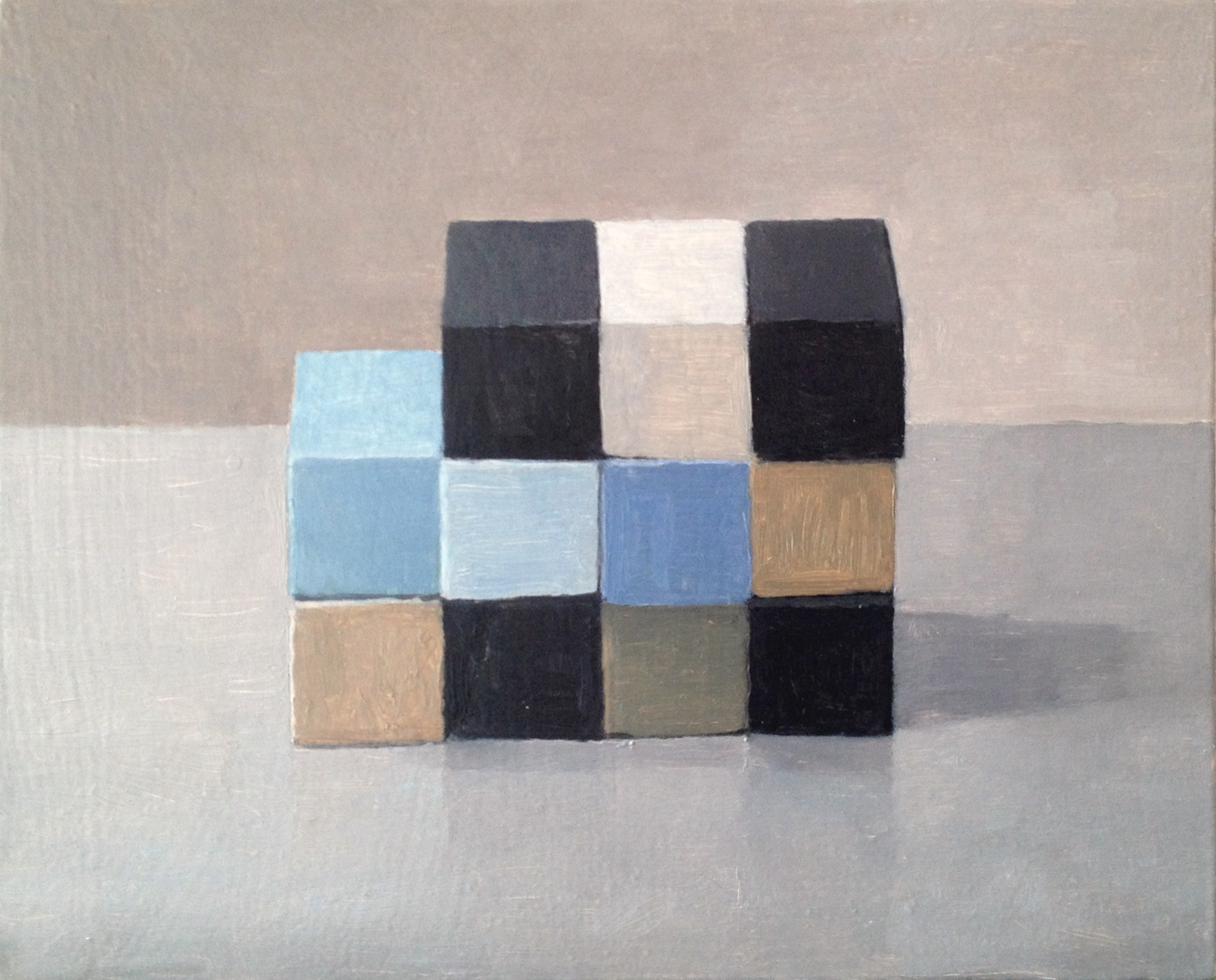Study,  Checkerboard V,  2014 Oil on wood, 20 x 25 cm SOLD