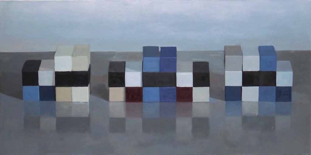 Dit-Dah, Oil on canvas, 24 x 48 inches, 2014
