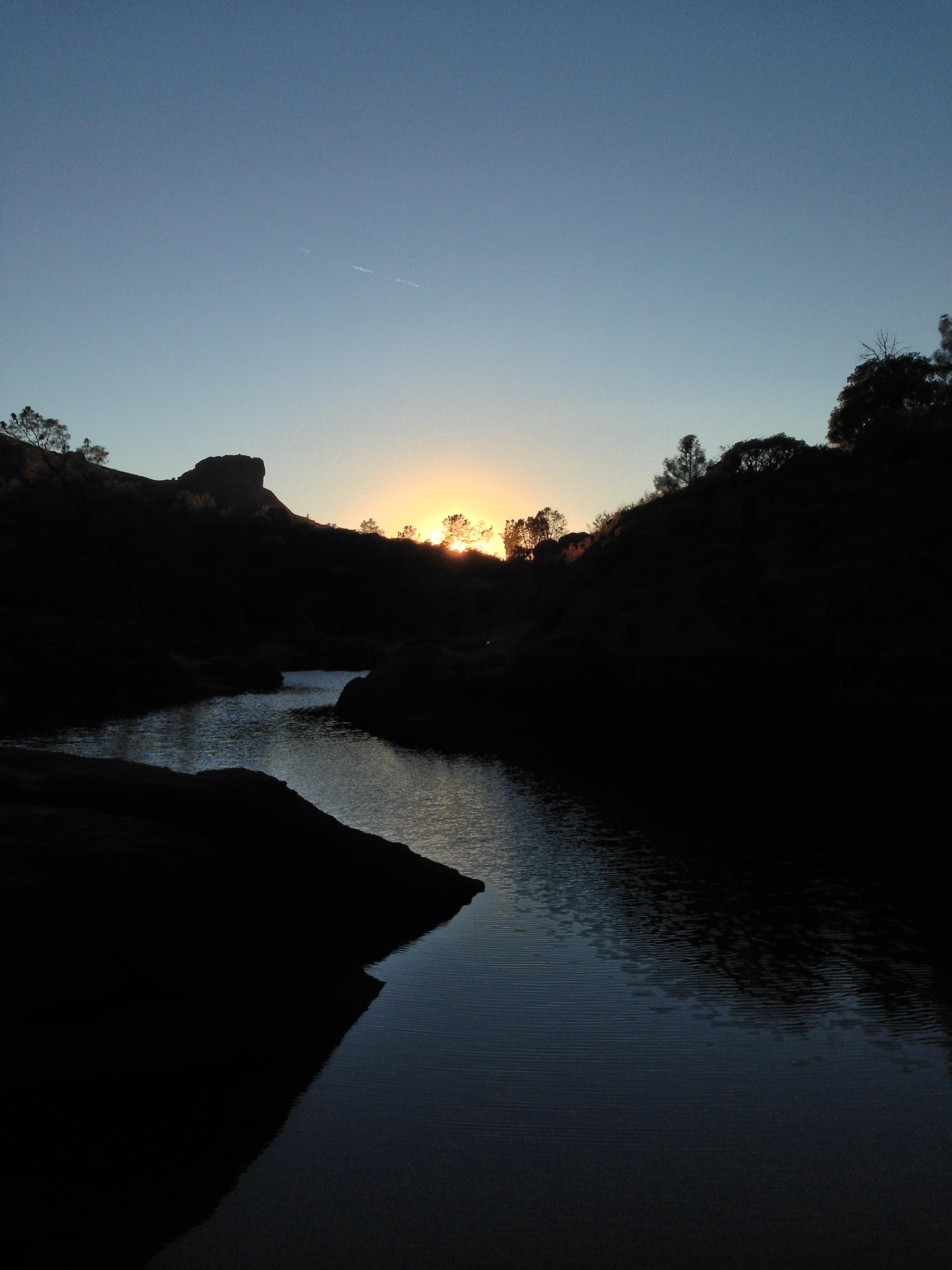 Bear Gulch Reservoir, Sunset