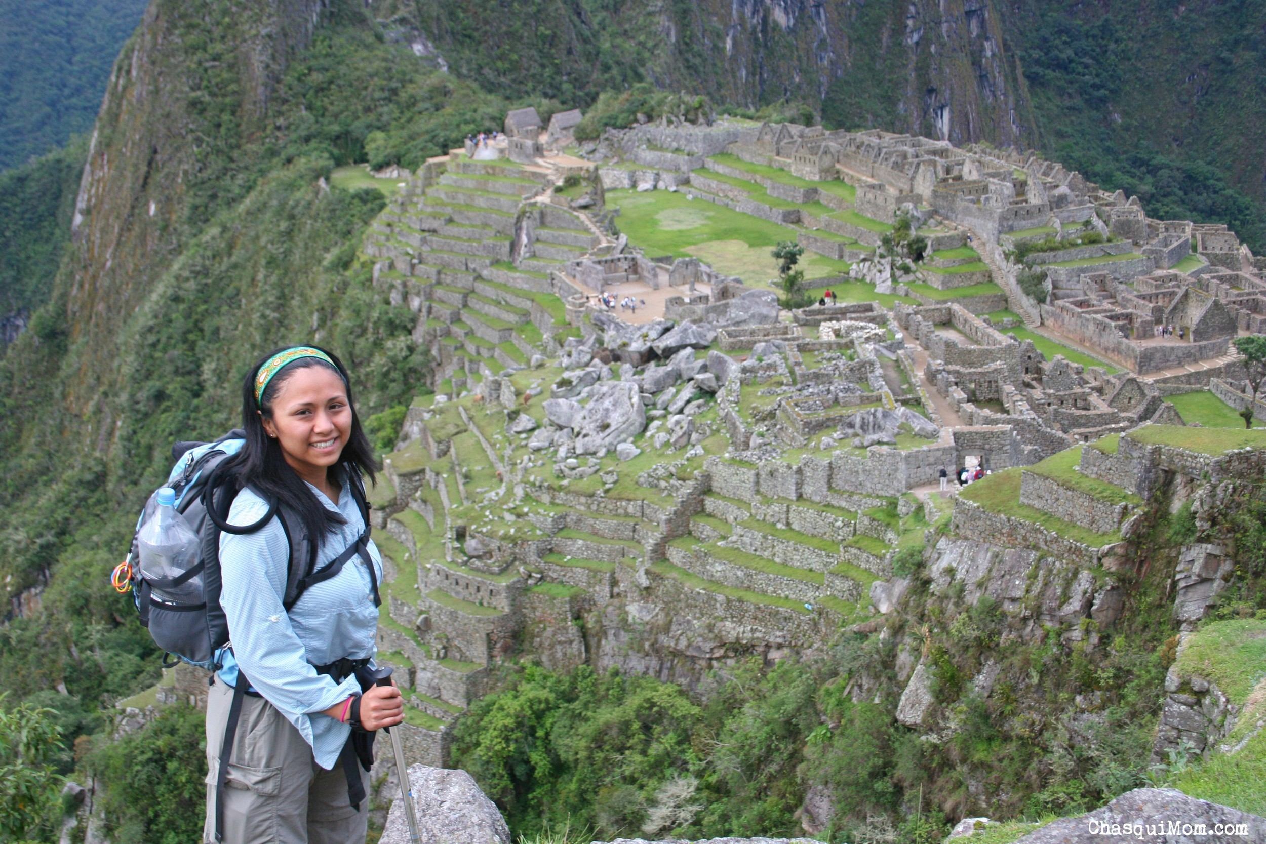 The author standing above Macchu Picchu on the Inca Trail