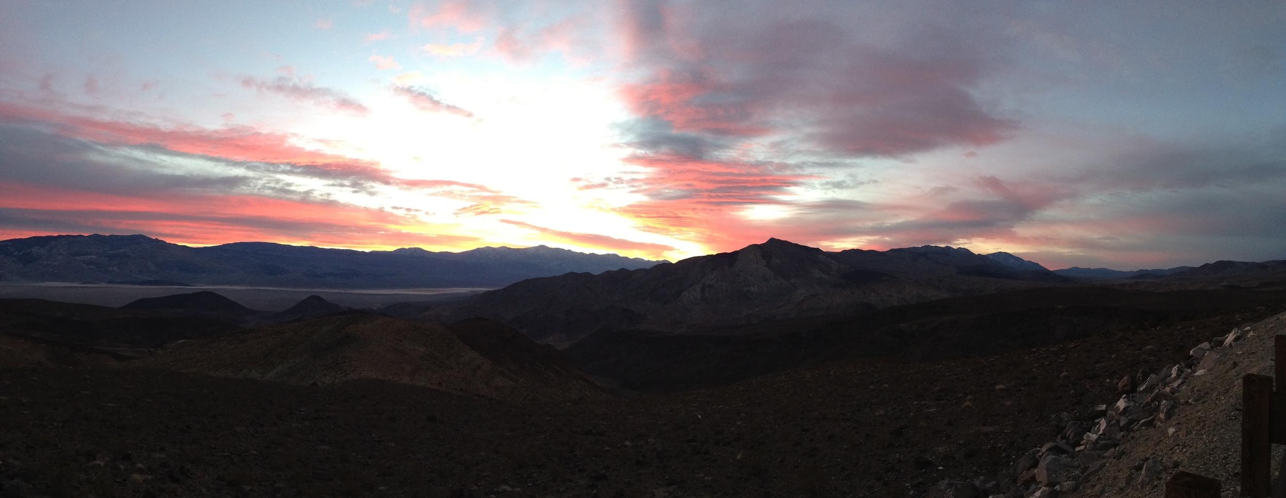 Sunrise, Father Crowley Vista, February 2, 2014