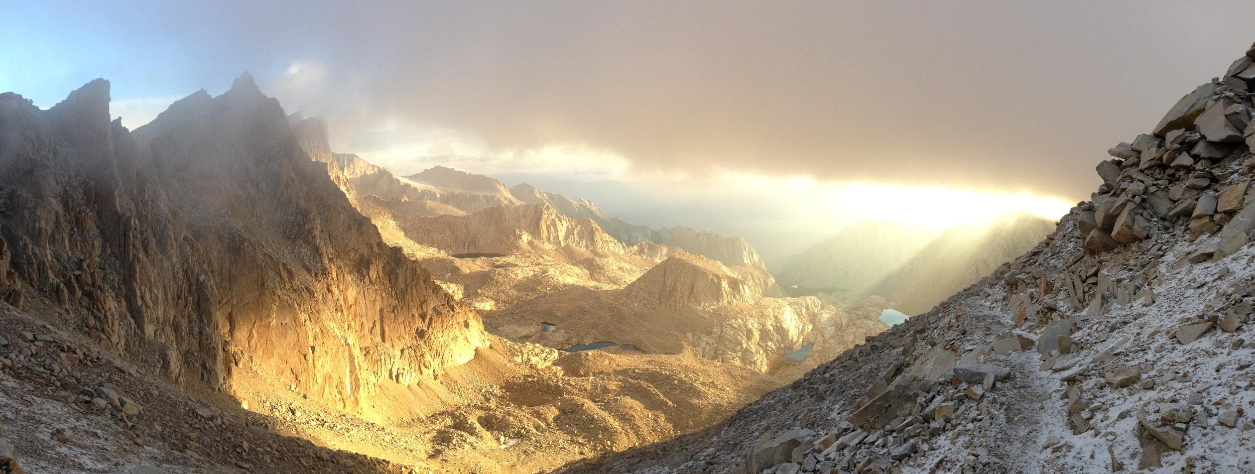 Mount Whitney Trail, Dawn, September 21, 2014