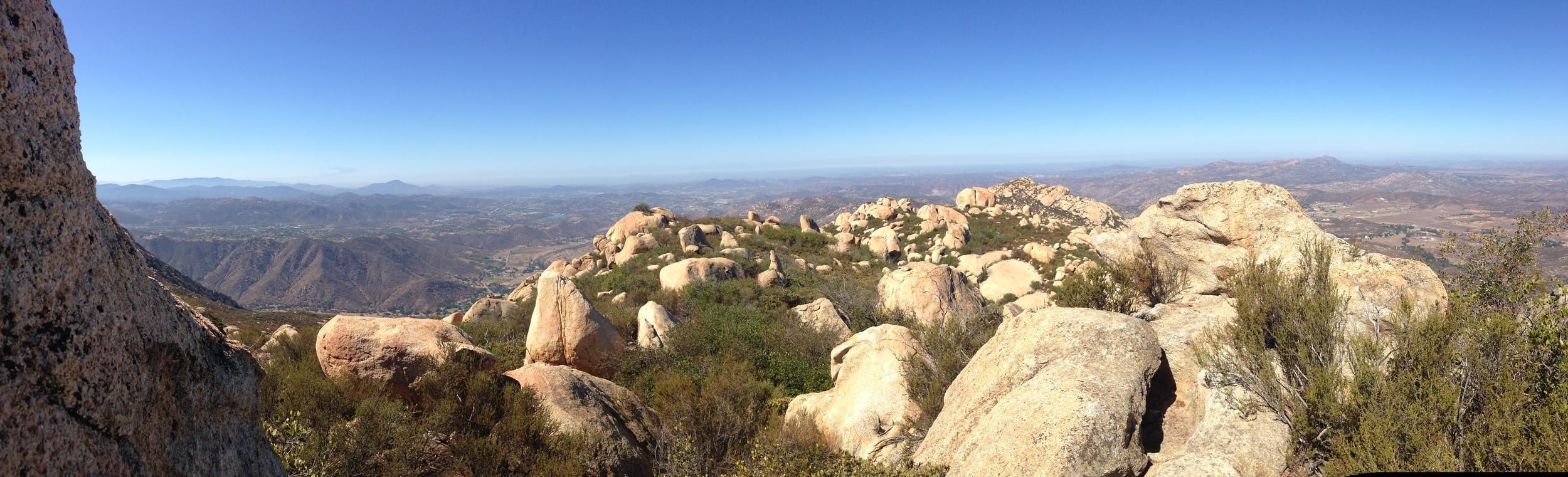Summit, El Cajon Mountain, September 2014