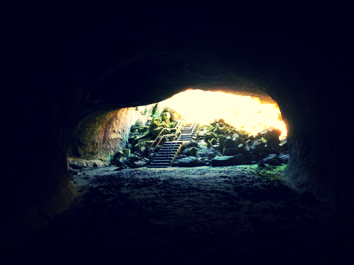 Entrance to Subway Cave, Lassen National Forest