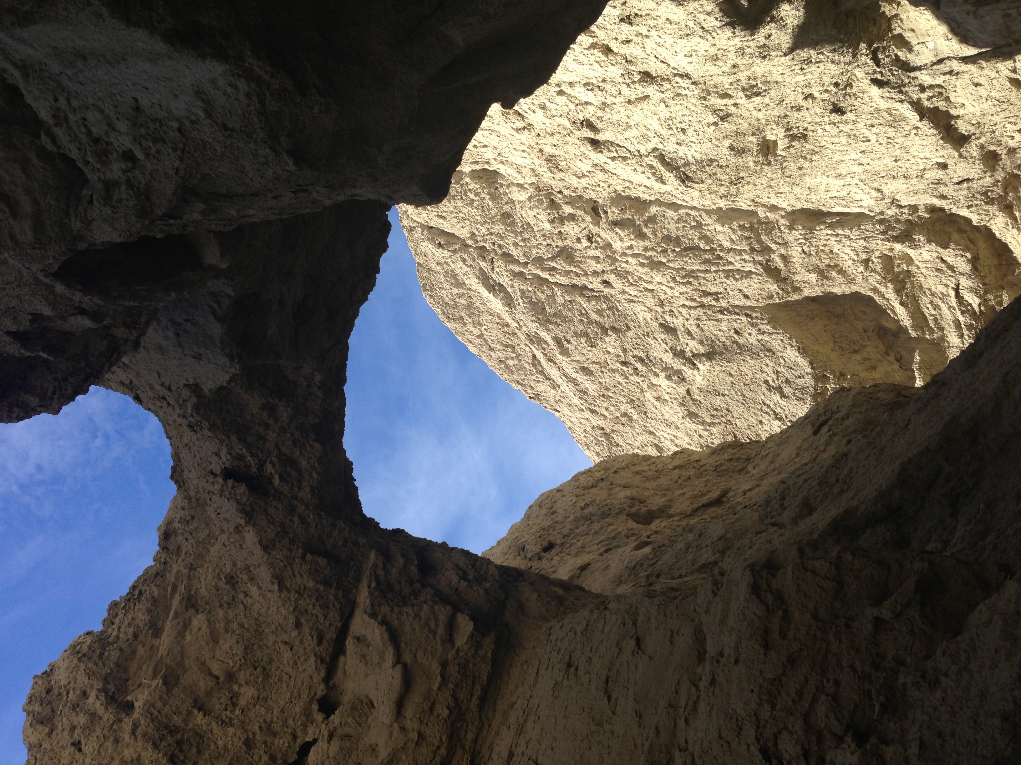 The mud caves of the Arroyo Tapiado have unusual one-of-a-kind terrain.