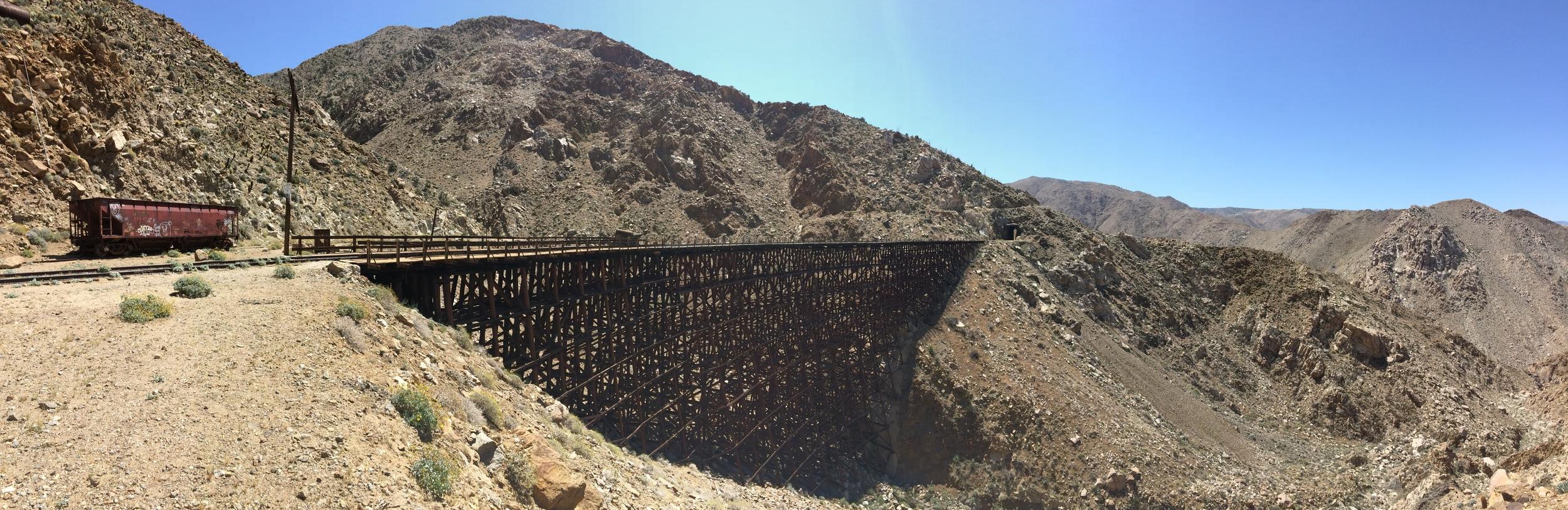 Goat Canyon Trestle, facing East, April 2015