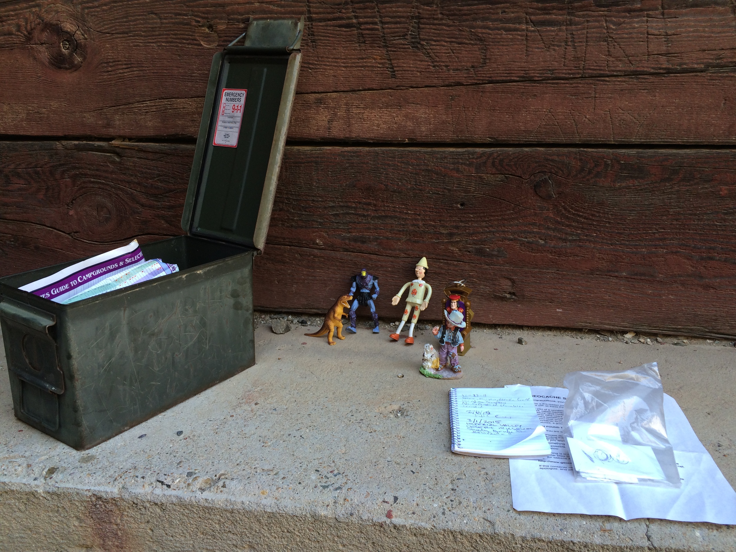 Geocache located on the Southern side of the Trestle tunnels.