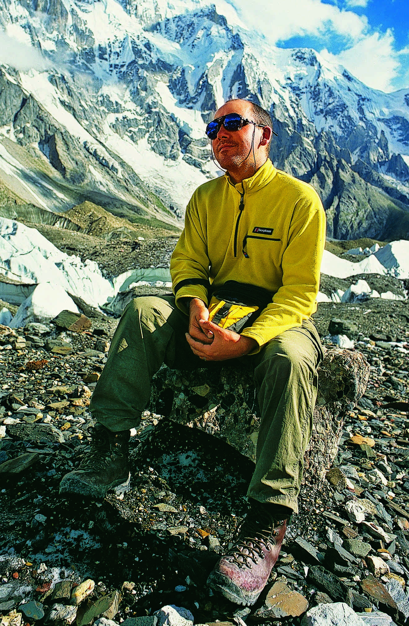 The author of the Ghosts of K2: the Epic Saga of the First Ascent, Mick Conefrey in the Himalayas