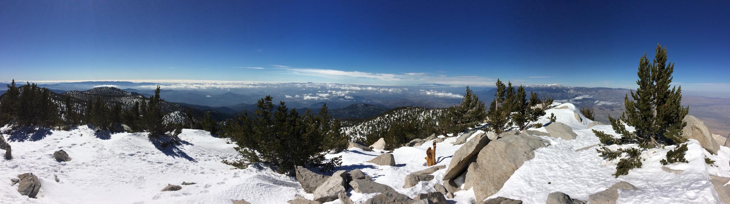 Summit Panorama, Mount San Jacinto, January 2016