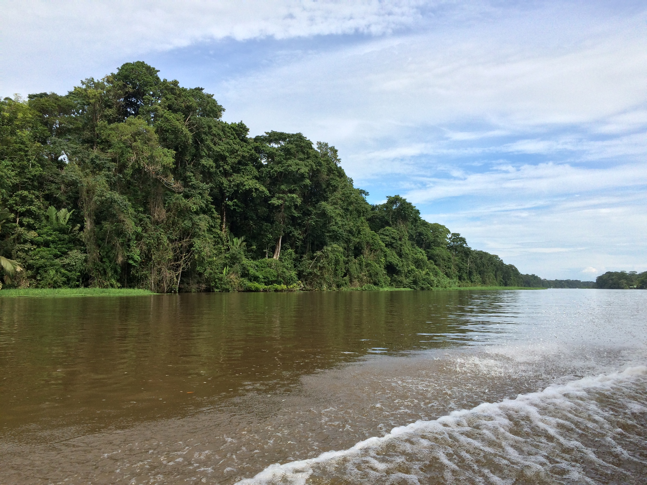 The region around Tortuguero is honeycombed with a number of canals.