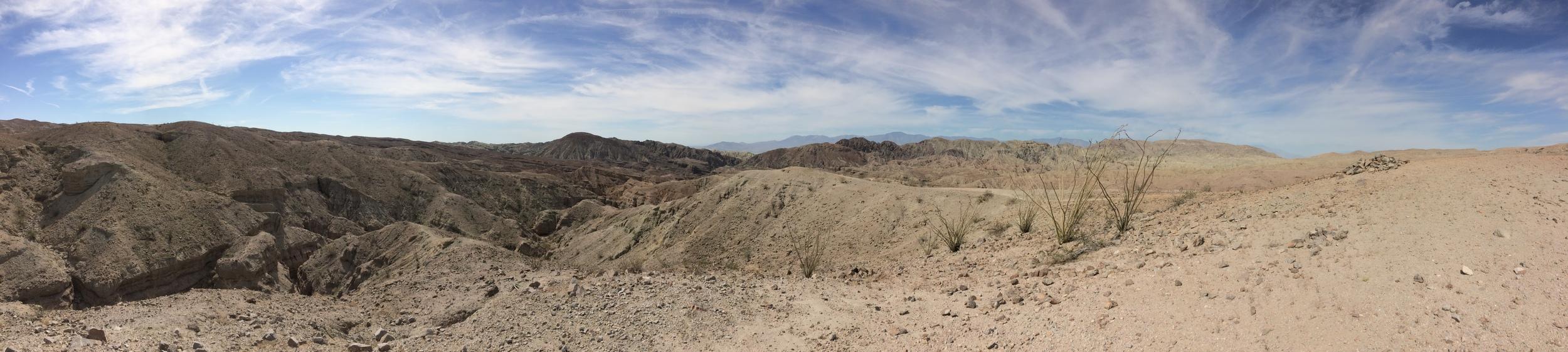 Mecca Hills Wilderness, above Ladder Canyon