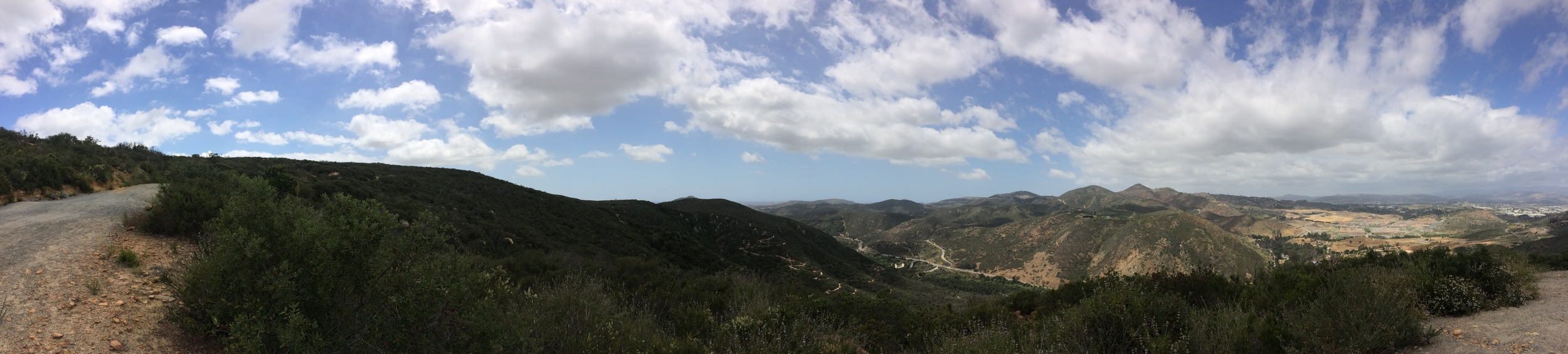 Looking toward Northeast San Diego County, Del Dios Highland Preserve