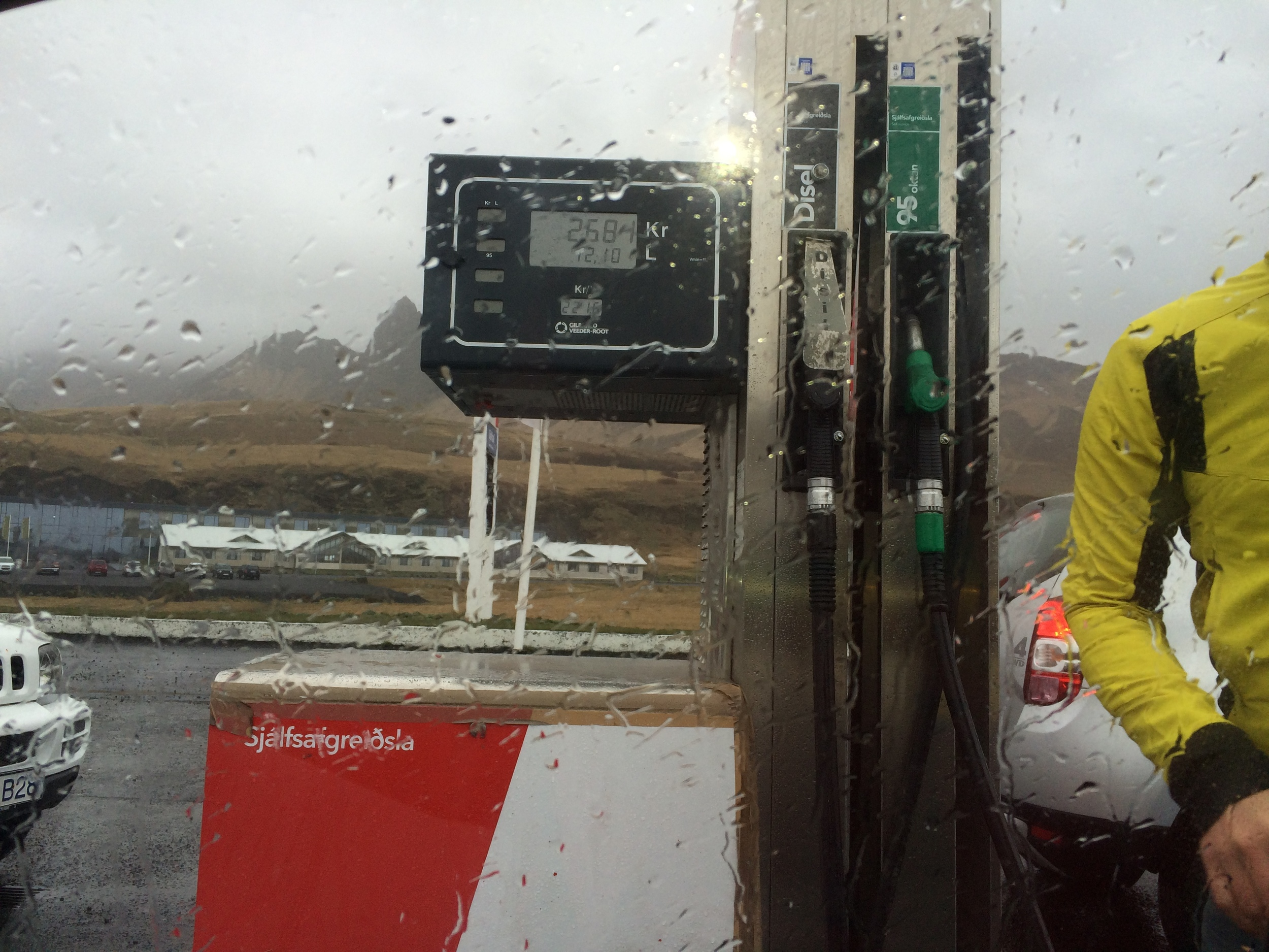 No matter where you are in Iceland, or what the weather is, always get gas when you can.