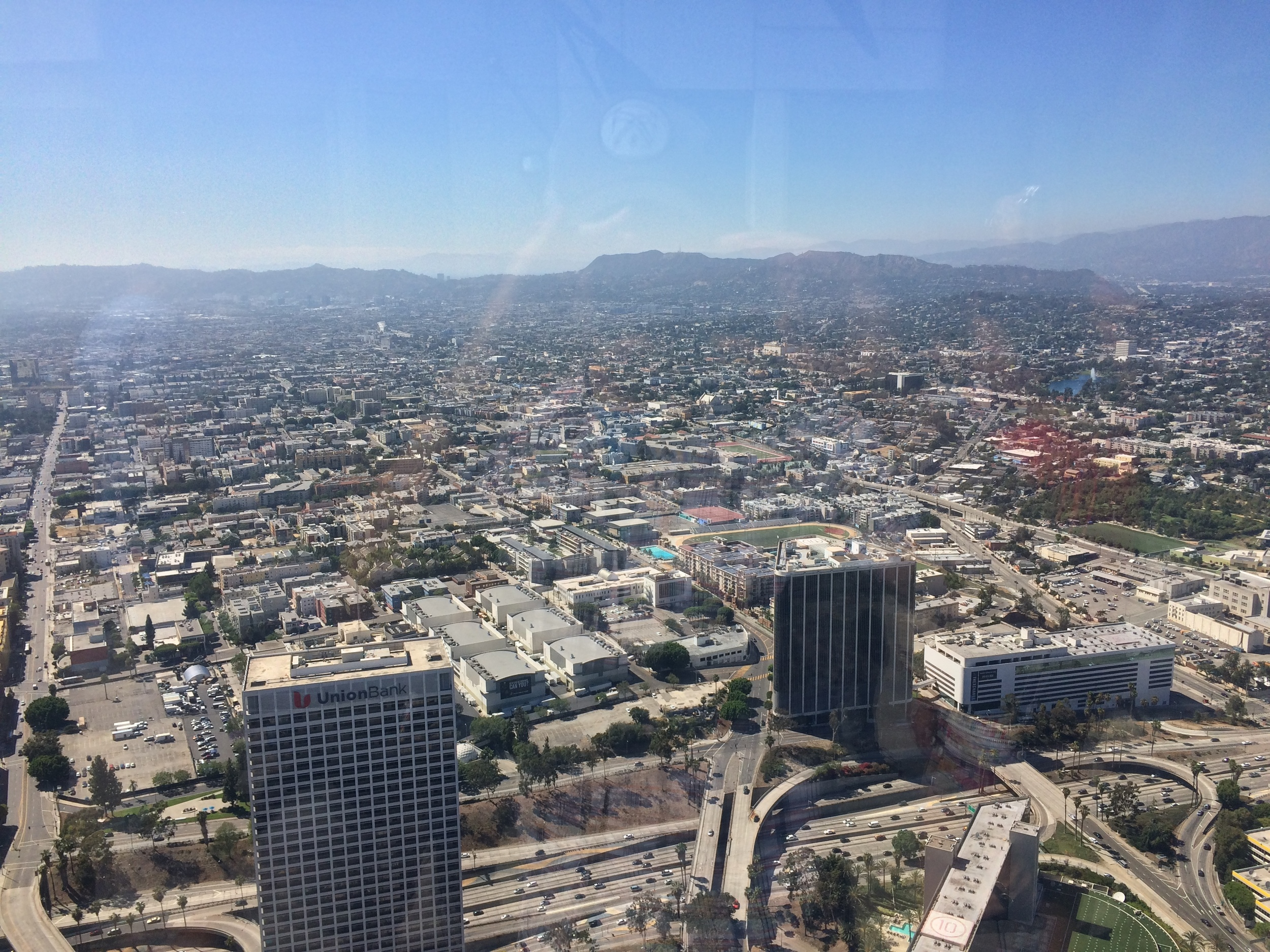 Los Angeles, as seen from the 69th Floor of the U.S. Bank Skyspace Observation Deck