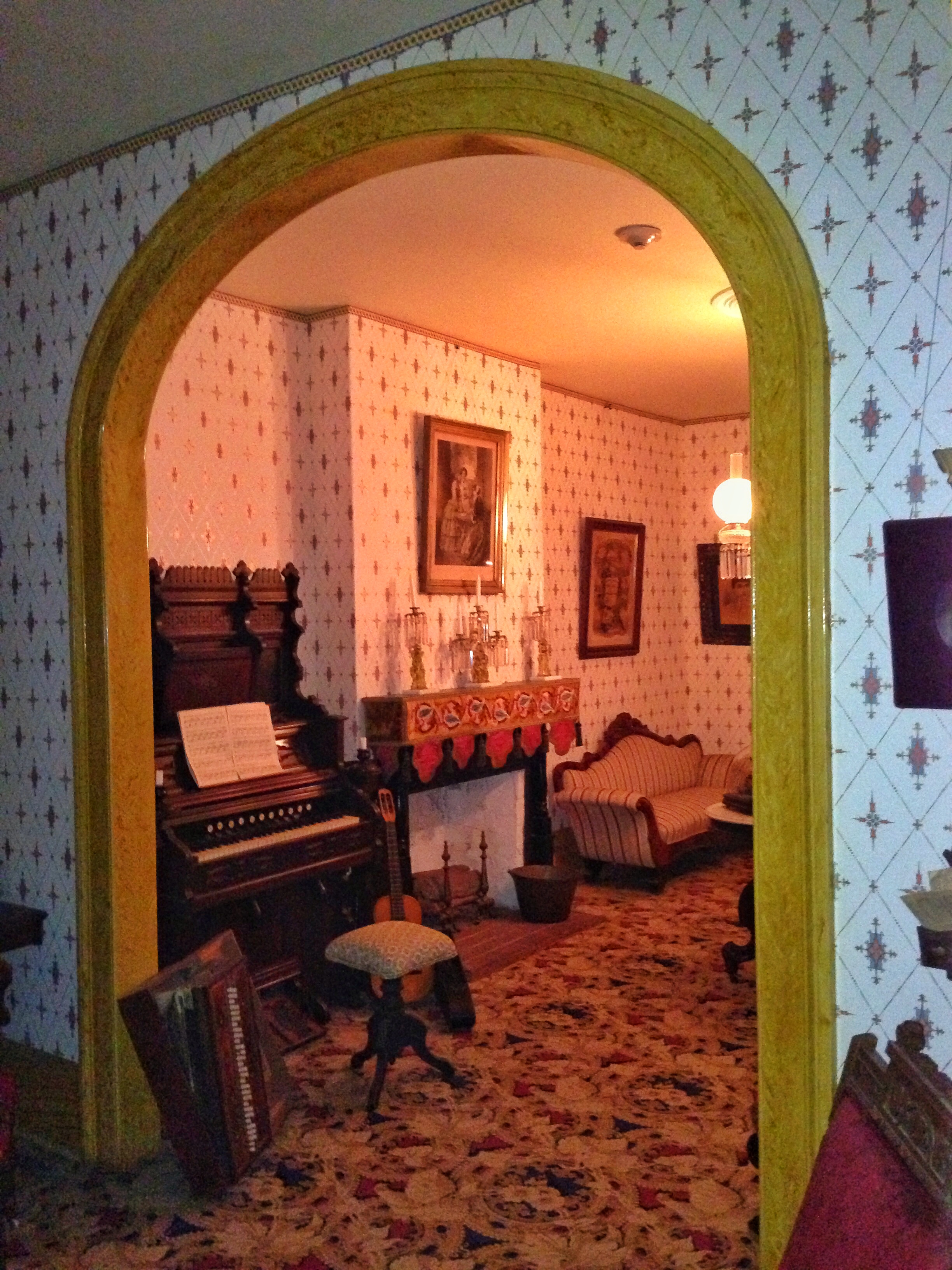 The Whaley House - reportedly one of the most haunted spots in the entire United States.