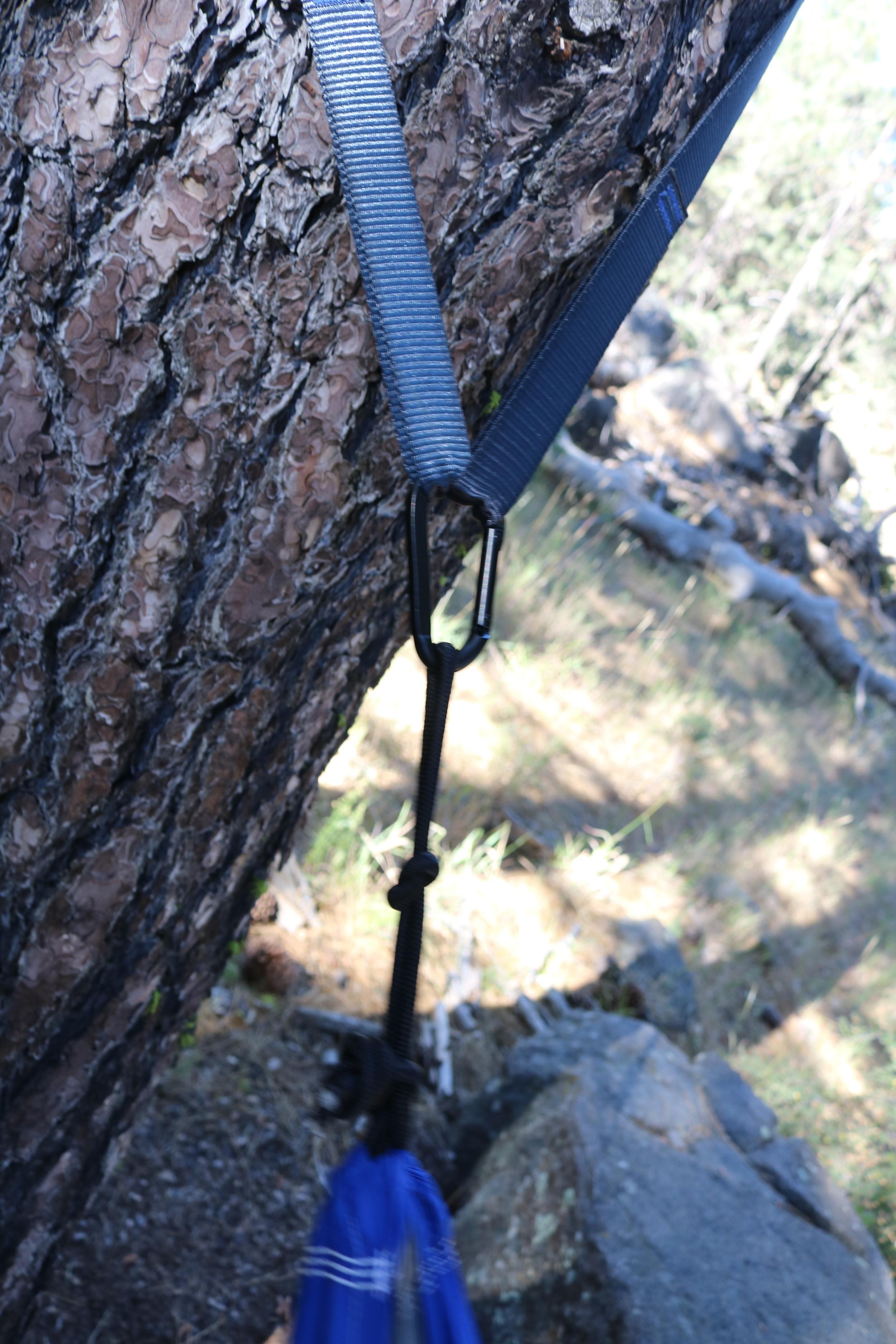 The Serac Tree Strap/Carabiner Combination makes hammock assembly a breeze.