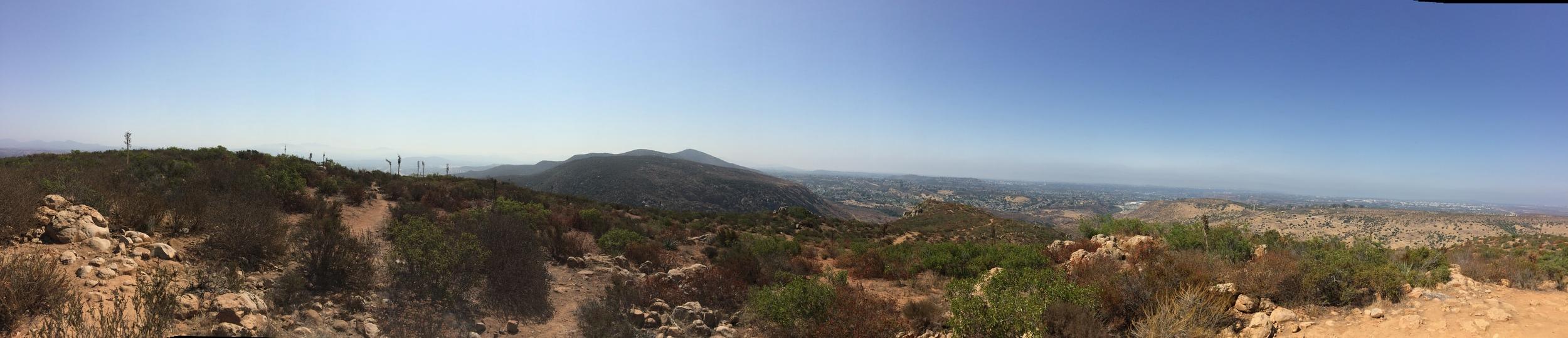 South facing summit panorama, South Fortuna Mountain