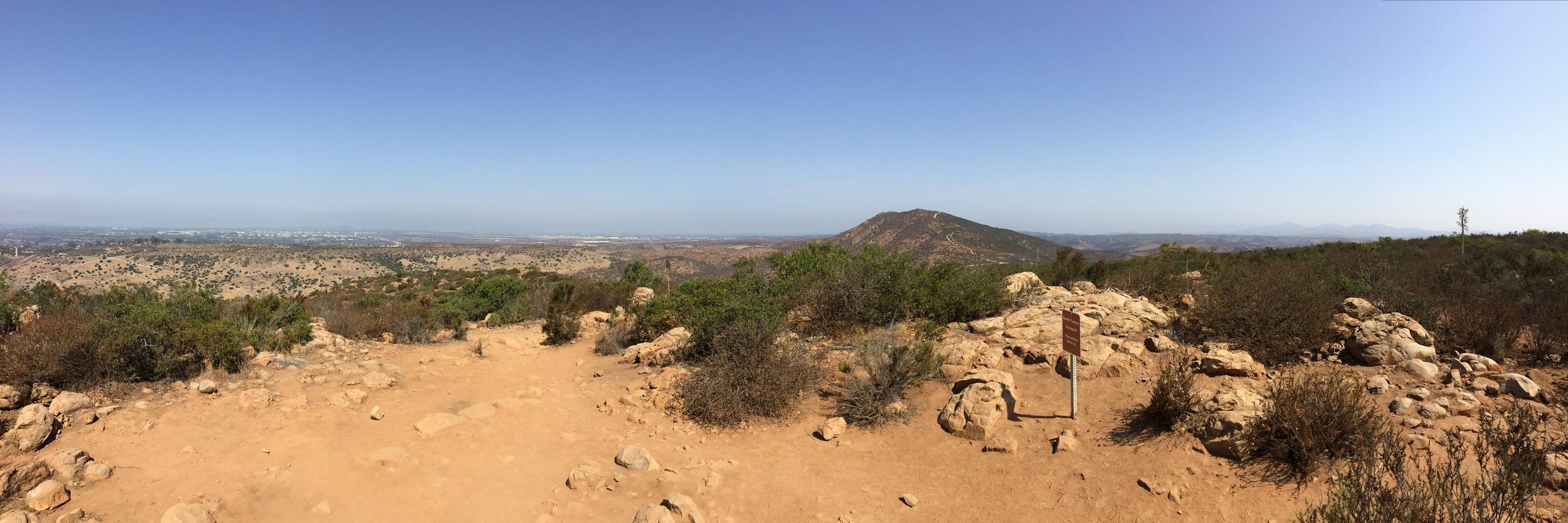 North facing summit panorama, South Fortuna Mountain