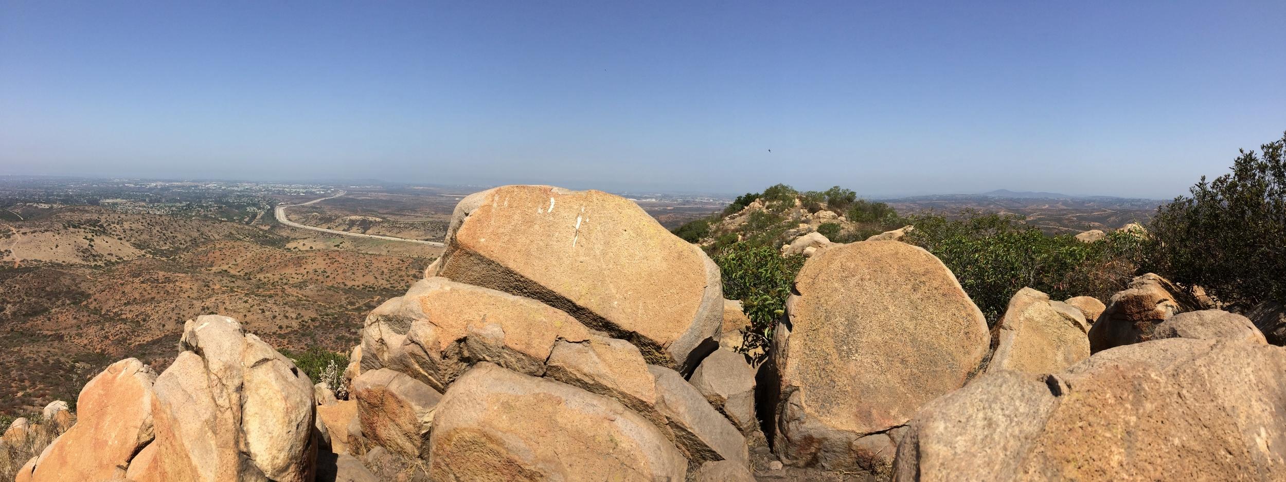 North facing summit panorama, North Fortuna Mountain