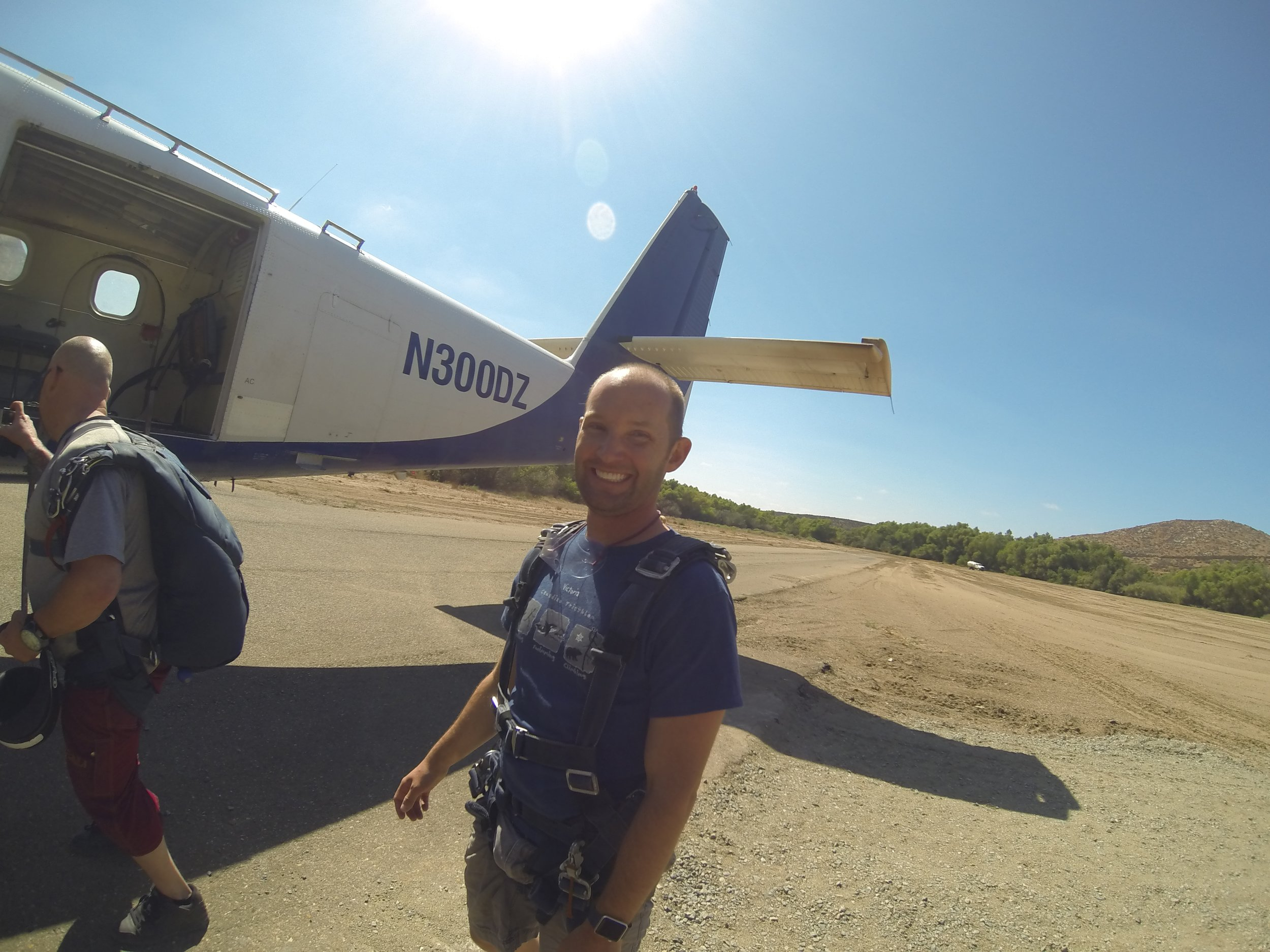 Boarding the plane, Skydive San Diego