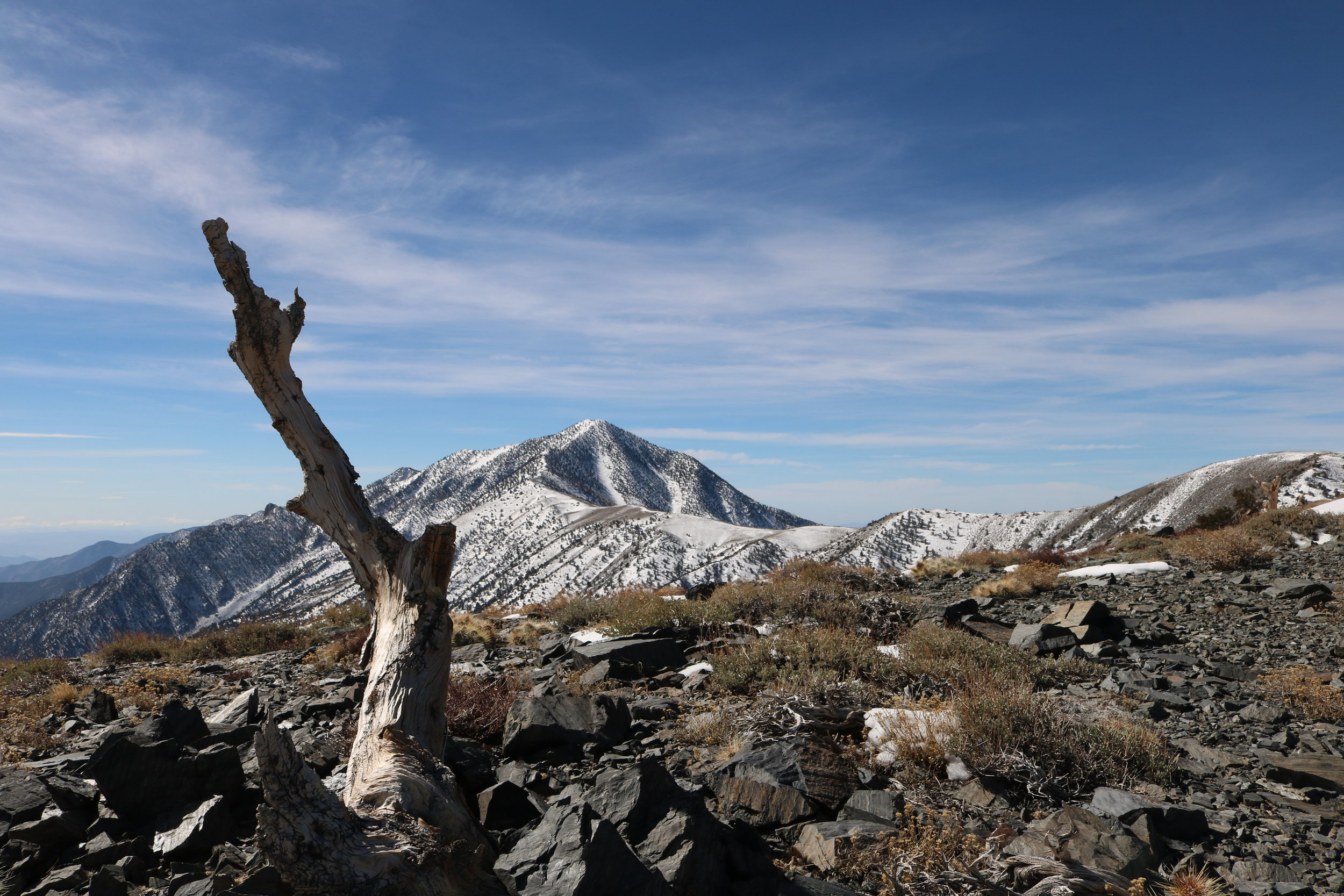 Telescope Peak is the highest point in the Panamint Range, and in Death Valley