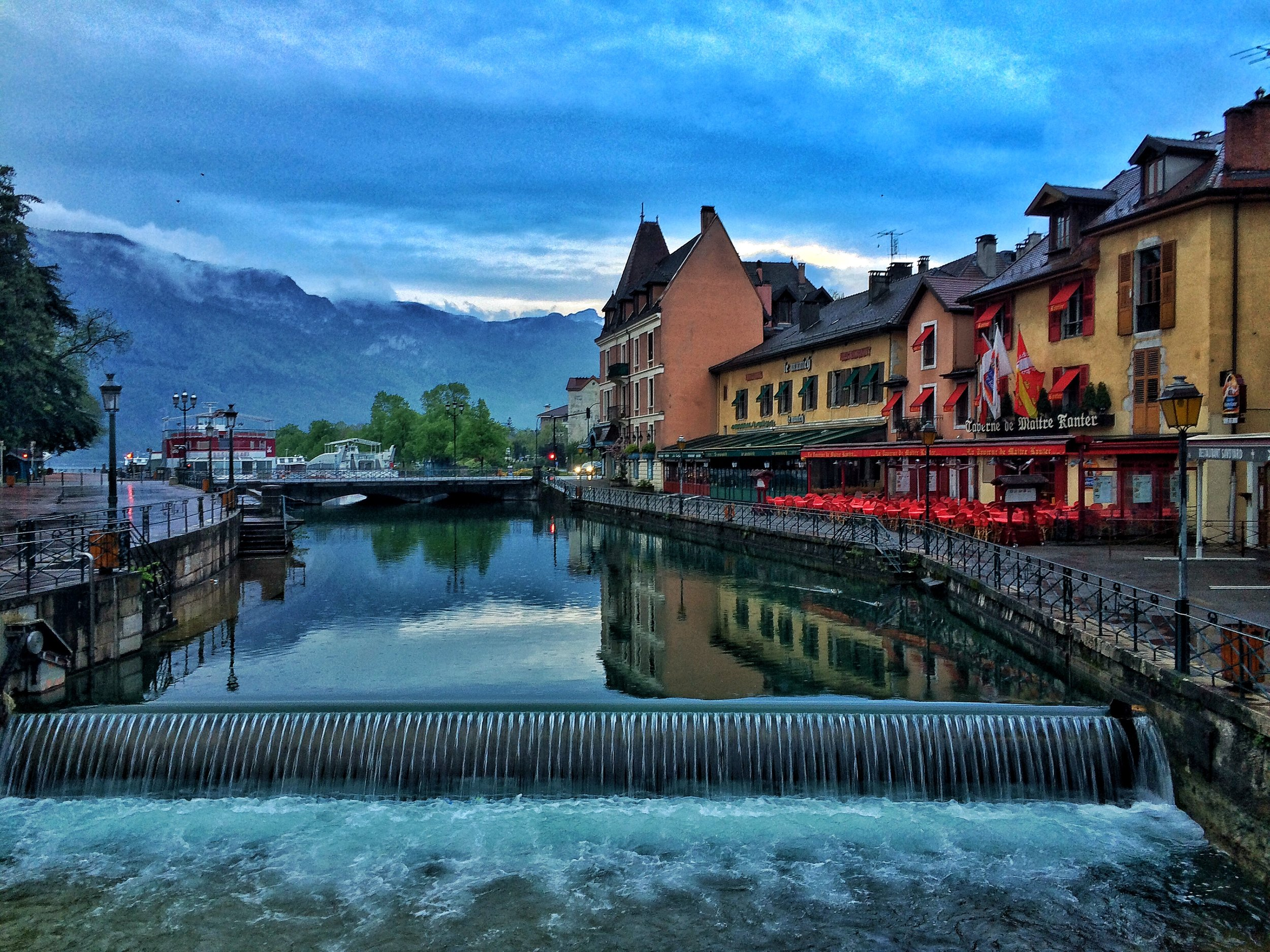 Annecy is a town with charming canals, an alpine lake, and historic structures in France.