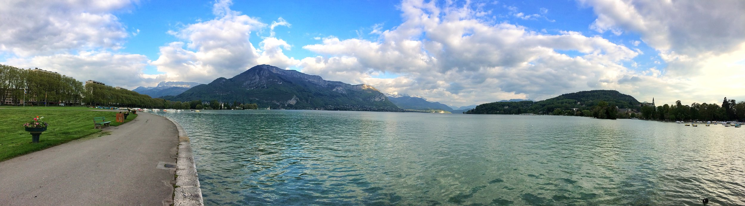 The many parks and paths around Lake Annecy provide amazing views from any spot.