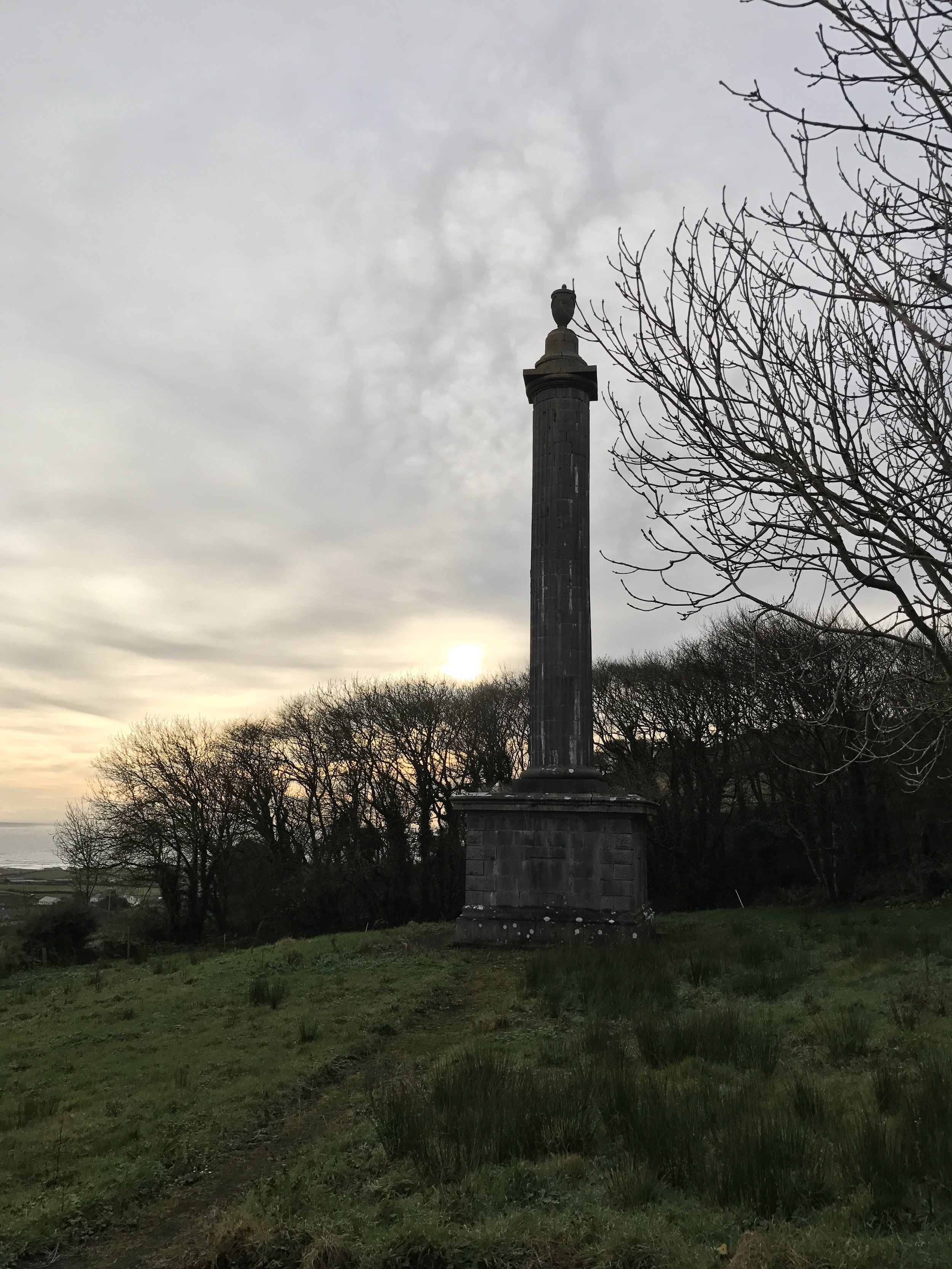 O'Briens Column commemerates a local landowner who reportedly was healed by the well.